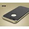 """เคส iPhone 7 Plus (5.5"""") เคส iPaky Hybrid Bumper เคสนิ่มพร้อมขอบบั๊มเปอร์ สีดำขอบทอง"""