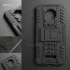 เคส Moto Z เคสบั๊มเปอร์ กันกระแทก Defender (พร้อมขาตั้ง) สีดำ