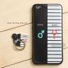 เคส Vivo V5 / V5s / V5 lite เคสนิ่ม TPU พิมพ์ลายนูน (ขอบดำ) + แหวนมือถือ แบบที่ 3