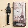 เคส Vivo Y28 เคสนิ่ม TPU พิมพ์ลาย (ขอบดำ) แบบที่ 3 Brown Eiffel (พร้อม สายคล้องโทรศัพท์)