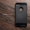 เคสสำหรับ iPhone 7 Plus เคสนิ่มเกรดพรีเมี่ยม (Texture ลายโลหะขัด) กันลื่น ลดรอยนิ้วมือ สีดำ