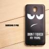 เคส Samsung Galaxy J7 Pro เคสนิ่ม TPU พิมพ์ลาย แบบที่ 7 Don't touch my phone