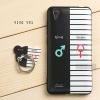 เคส Vivo Y31 เคสนิ่ม TPU พิมพ์ลายนูน (ขอบดำ) + แหวนมือถือ แบบที่ 5