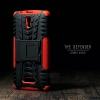 เคส Lenovo A2010 (TRUE Lenovo 4G A2010) กรอบบั๊มเปอร์ กันกระแทก Defender สีแดง (เป็นขาตั้งได้)