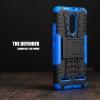 เคส Lenovo K6 Power เคสบั๊มเปอร์ กันกระแทก Defender (พร้อมขาตั้ง) สีน้ำเงิน