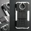 เคส Moto G5s เคสบั๊มเปอร์ กันกระแทก Defender (พร้อมขาตั้ง) สีขาว