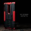 เคส Lenovo PHAB 2 Plus เคสบั๊มเปอร์ กันกระแทก Defender (พร้อมขาตั้ง) สีแดง