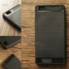 เคส Huawei P8 Lite เคสนิ่มเกรดพรีเมี่ยม (Texture ลายโลหะขัด) กันลื่น ลดรอยนิ้วมือ สีดำ