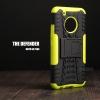 เคส Moto G5 Plus เคสบั๊มเปอร์ กันกระแทก Defender (พร้อมขาตั้ง) สีเขียวอ่อน
