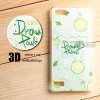 เคส OPPO Mirror 5 Lite / A33 เคสแข็ง พิมพ์ลาย 3D สามมิติ แบบที่ 3 Lime Mint Drawing Powder