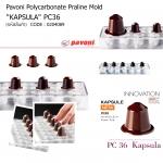 Pavoni Polycarbonate Praline Mold Kapsula PC36