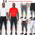 UNDER ARMOUR HeatGear Graphic ¾ Compression