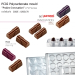 "PC02 Polycarbonate mould ""Praline Innovation"" 17*37*h.17mm"