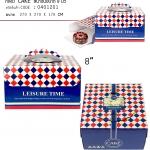 กล่อง CAKE สีน้ำเงินDessert ตารางขนาด 8 นิ้ว