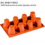 FR002 Multi-portion 8 cavities big baba red brick