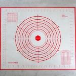 Silicone Mat แบบมีเส้นวงกลมวัดระยะ (W50*L60 cm)