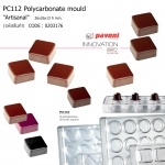 "PC112 Polycarbonate Pralines stamp ""Artisanal"""