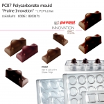 "PC07 Polycarbonate mould ""Praline Innovation"" 17*37*h.17mm"