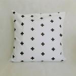 Minimal black cross pillow 20''