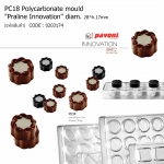 "PC18 Polycarbonate mould ""Praline Innovation"" diam.28*h.17mm"