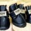 รองเท้าสุนัข รองเท้าแมว สีดำอ่อนแบบผ้ากันลื่น (4 ข้าง) thumbnail 1