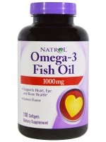 Natrol, Omega-3 Fish Oil, Lemon Flavor, 1,000 mg, 150 Softgels