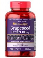 Puritan's Pride Grapeseed Extract 100 mg 200 Capsules