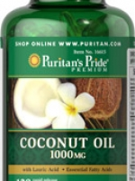 Puritan's Pride Coconut Oil 1000 mg 120 Softgels