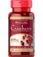 Puritan's Pride, Cranberry Fruit Concentrate Plus Vitamin D3 4200 mg