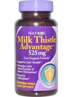 Natrol, Milk Thistle Advantage, 525 mg, 60 Veggie Caps