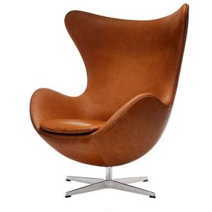 เก้าอี้ Egg chair- Italian leather