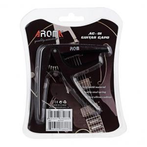 คาโป้กีต้าร์โปร่ง-ไฟฟ้า ยี่ห้อ Aroma AC-01 สีดำ