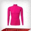 Bodyfit / Baselayer เสื้อรัดรูปคอตั้งแขนยาว สี แดงอมชมพู mediumviolet
