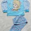 DIsney : ชุดนอนแขนยาว + ขายาว สีฟ้า ลายดอกไม้ Elsa Size : 12(10-12y)