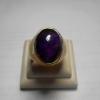 แหวนแก้วนางขวัญ สีม่วงเข้ม แก้วแห่งเมตตาสมาธิ ขนาเเม็ด 1.9*1.4 cm แหวนเบอร์ 62