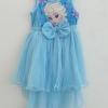 Disney : เดรส เจ้าหญิงเอลซ่า ผ้ายืด ตัดต่อกระโปรงผ้าตาข่าย ด้านหน้าสั้น หลังยาว สีฟ้า ผ้านิ่มค่ะ size : 8 (8-9y) / 10 ( 9-10y)