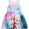 H&M : ชุดเดรสสี พิมพ์ลาย เจ้าหญิงแอนนา เอลซ่า สีฟ้า size : 10-12y