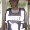 เสื้อจราจรสะท้อนแสง ตำรวจสีดำ