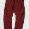H&M : Shaped Leg (ชนช้อป)สีแดงเลือดหมู ทรงเท่ห์มาก size : 1.5-2y