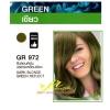 GR 972 สีบลอนด์เข้ม ประกายเหลือบเขียว Dark Blonde Green Reflect ปิดผมขาว 100%