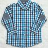 Polo : เสื้อเชิ๊ตแขนยาว แปะศอก ลายทางสีฟ้า Size : 1T / 2T / 3T / 5T