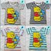 H&M : เสื้อยืด สกรีนลายหมีพู มี 4 สีค่ะ เทา ดำ ส้ม เขียว