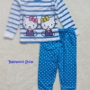 Baby Joe : ชุดนอนลายคิตตี้ สีฟ้า size 2T
