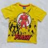 Justice League : เสื้อยืดสกรีนลาย FLASH สีเหลือง (งานช้อป) size 8