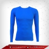 เสื้อรัดรูป Bodyfit แขนยาวคอกลม สีฟ้าเข้ม mediumblue