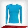 เสื้อรัดรูป Bodyfit แขนยาวคอกลม สีฟ้า deepskyblue
