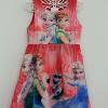 Zara Basic : เดรสพิมพ์ลาย Frozen สีแดง ซิปหลัง Size 1y / 2y / 7y / 8y / 9y / 10y / 11y