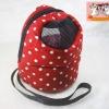 กระเป๋าชูก้าร์ แบบคล้องคอ สีแดง