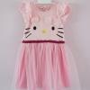 H&M : เดรสคิตตี้ กระโปรงผ้ามุ้ง สีชมพูอ่อน (งานติดป้ายผิดไซส์) size 1-2y