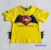 Bat&Sup : เสื้อยืด Batman Supperman สีเหลือง size : L (7-8y)